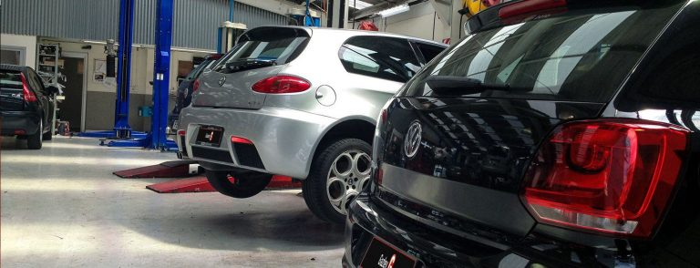 Gazley Volkswagen Golf models in the workshop