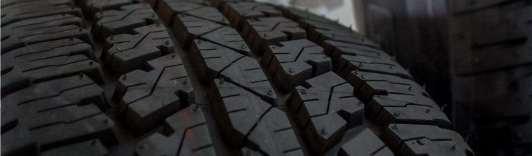Close up photo of tyre tread