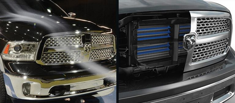 Ram 1500 Warlock active grill diagram and example