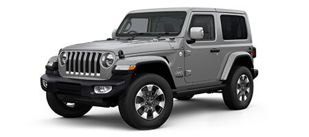 2 door Jeep Wrangler overland 3/4 view render