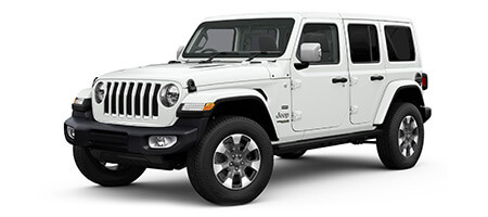 4 door Jeep Wrangler overland 3/4 view render