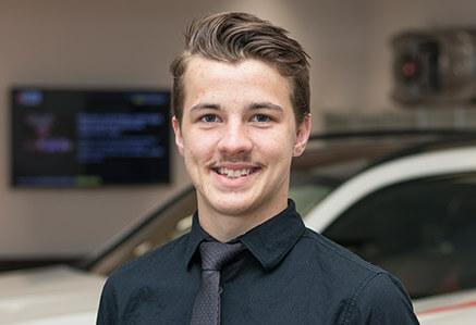Logan Goatley, a Mercedes and Mitsubishi Parts guy