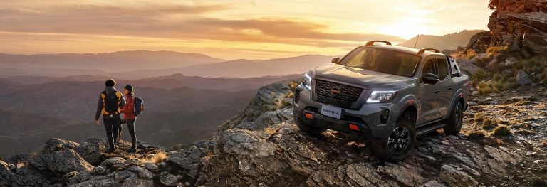 A MY2021 Nissan navara Pro 4X model on the top of mountain